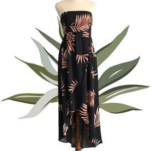 """RIPCURL """"Utopia"""" Maxi Dress Strapless Tropical"""